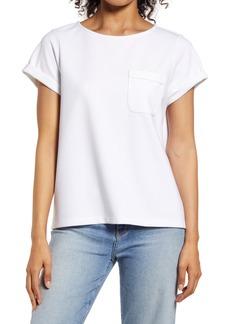 Halogen® Rolled Cuff Crewneck T-Shirt