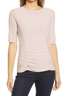 Halogen® Ruched Elbow Sleeve Top