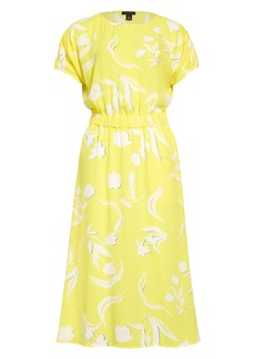 Halogen® Ruched Sleeve Midi Dress