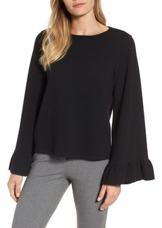 Halogen® Ruffle Cuff Knit Top (Regular & Petite)
