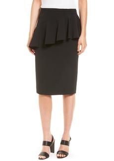 Halogen® Ruffle Detail Pencil Skirt