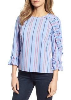 Halogen® Ruffle Detail Poplin Shirt (Regular & Petite)