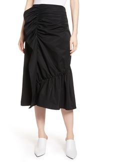 Halogen® Ruffle Front Skirt (Regular & Petite)