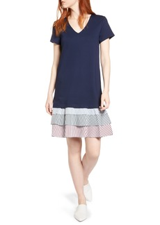 Halogen® Ruffle Hem Knit Dress (Regular & Petite)