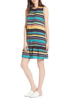 Halogen® Ruffle Hem Shift Dress (Regular & Petite)