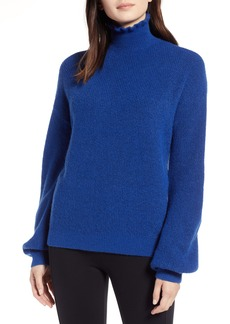 Halogen® Ruffle Neck Sweater (Regular & Petite)