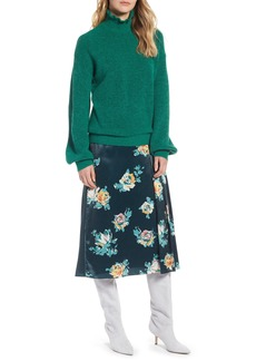 Halogen® Ruffle Neck Sweater (Regular & Petite)