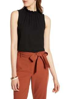 Halogen® Ruffle Neck Top