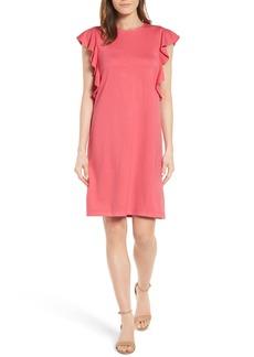 Halogen® Ruffle Shoulder A-Line Dress (Regular & Petite)