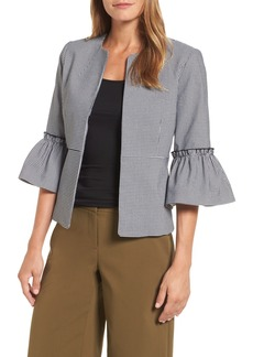 Halogen® Ruffle Sleeve Open Jacket