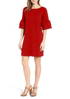 Halogen® Ruffle Sleeve Shift Dress (Regular & Petite)