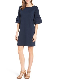 Halogen® Ruffle Sleeve Shift Dress (Regular & Petite)