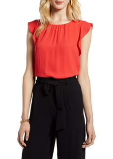 Halogen® Ruffle Sleeve Top