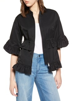 Halogen® Ruffle Zip Jacket (Regular & Petite)