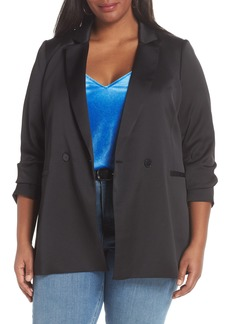 Halogen® Satin Blazer (Plus Size)