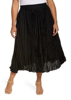 Halogen® Satin Skirt (Plus Size)
