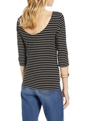 Halogen® Scoop Back Knit Top
