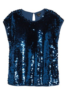 Halogen® Sequin Cap Sleeve Top