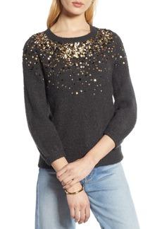 Halogen® Sequin Detail Sweater (Regular & Petite)