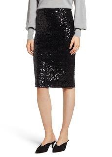 Halogen® Sequin Pencil Skirt (Regular & Petite)