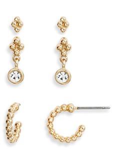 Halogen® Set of 3 Earrings