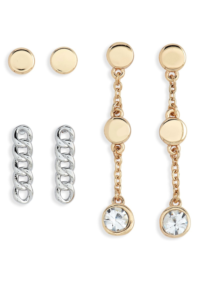 Halogen® Set of 3 Earrings