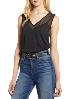 Halogen® Sheer Detail Tank (Regular & Petite)