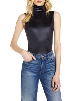 Halogen® Shiny Fitted Sleeveless Turtleneck