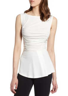 Halogen® Shirred Detail Sleeveless Blouse (Regular & Petite)