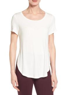 Halogen® Short Sleeve Shirttail Tee (Regular & Petite)