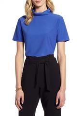 Halogen® Short Sleeve Turtleneck Top