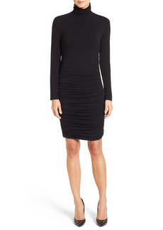 Halogen® Side Ruched Turtleneck Dress (Regular & Petite)