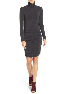 Halogen® Side Ruched Turtleneck Dress