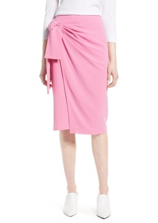 Halogen® Side Tie Pencil Skirt (Regular & Petite)