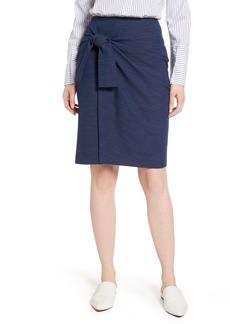 Halogen® Side Tie Pencil Skirt (Regular & Petite)
