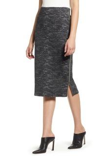 Halogen® Side Zip Ponte Pencil Skirt (Regular & Petite)