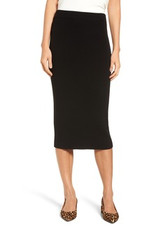 Halogen® Skinny Ribbed Sweater Midi Skirt (Regular & Petite)