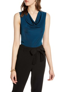 Halogen® Sleeveless Drape Front Top