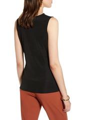 Halogen® Sleeveless Drape Front Top