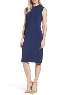 Halogen® Sleeveless Mock Neck Knit Dress (Regular & Petite)