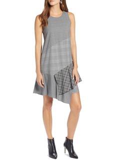Halogen® Sleeveless Plaid Mix A-Line Dress (Regular & Petite)