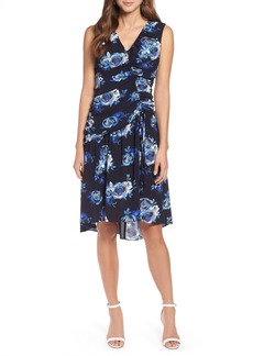 Halogen® Sleeveless Ruched Dress (Regular & Petite)