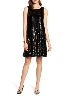 Halogen® Sleeveless Sequin A-Line Dress