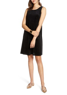 Halogen® Sleeveless Velvet A-Line Dress