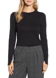 Halogen® Slit Sleeve Sweater (Regular & Petite)