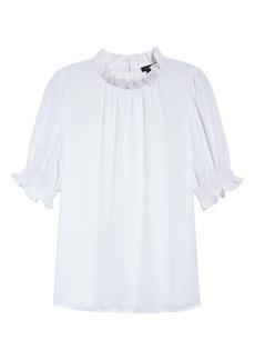 Halogen® Smocked Sleeve Top (Regular & Petite)