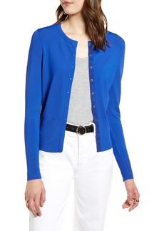 Halogen® Snap Front Cardigan (Regular & Petite)