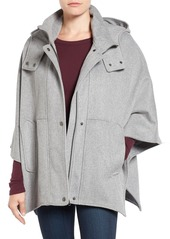 Halogen® Snap Front Hooded Cape