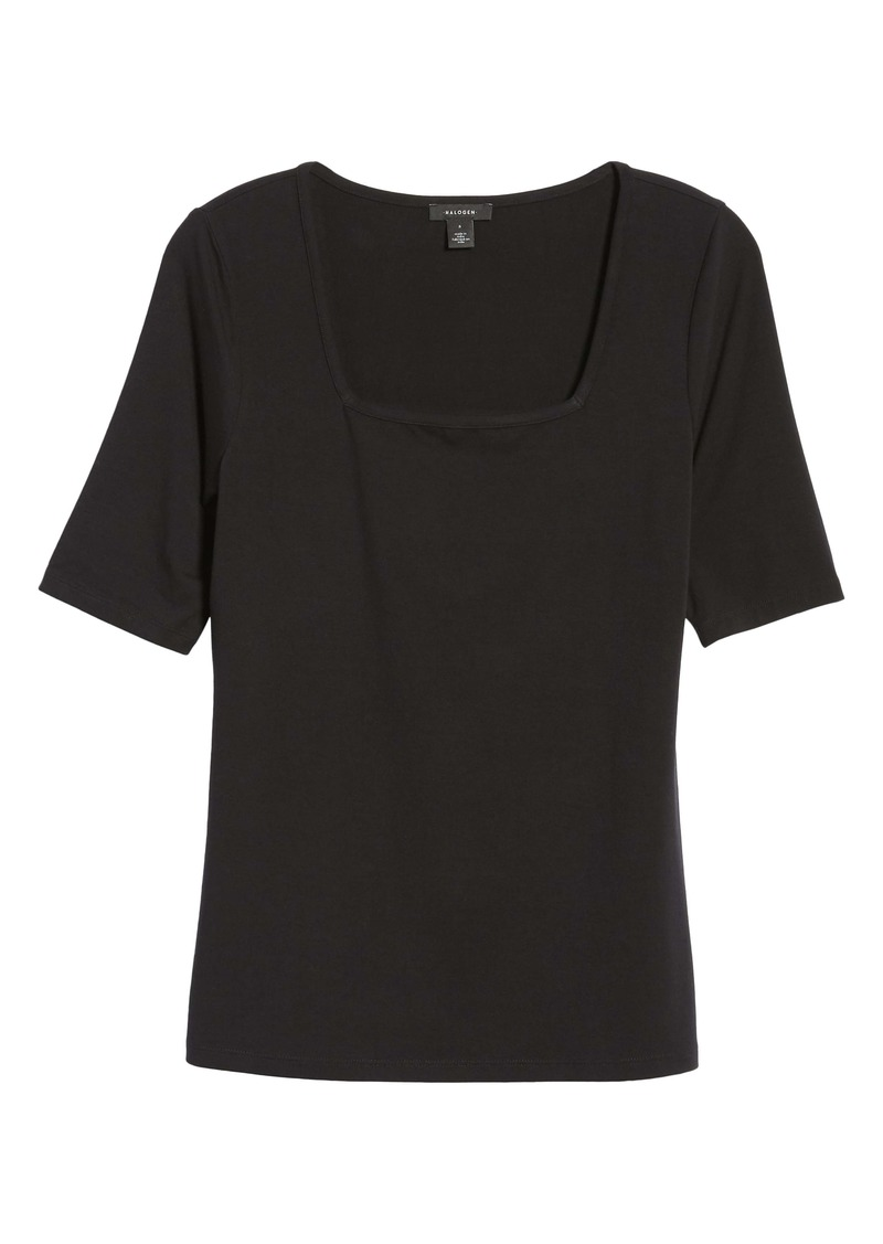 Halogen® Square Neck Tee