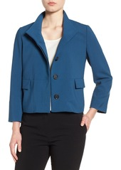 Halogen® Stand Collar Jacket (Regular & Petite)